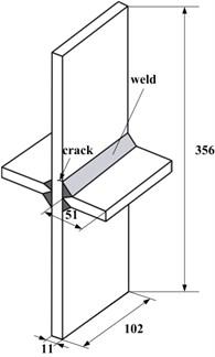 Fatigue test specimen [18] (Dimensions are in millimeters)