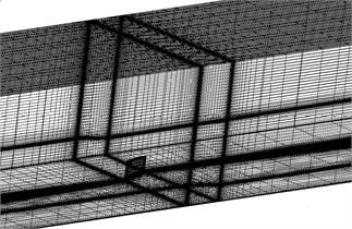 Structured mesh of vortex generator