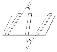 Schematic program of the laying included angle between two adjacent structures