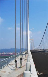 The vertical cable used in suspension bridge with hinged-fixed boundary conditions