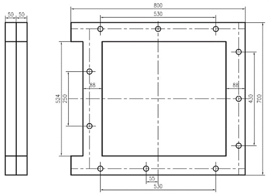 The dimension of bed-column bolted connected block structure