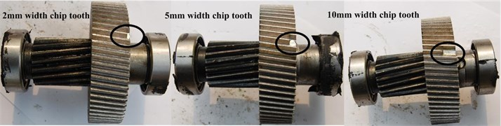 Three different levels chip tooth
