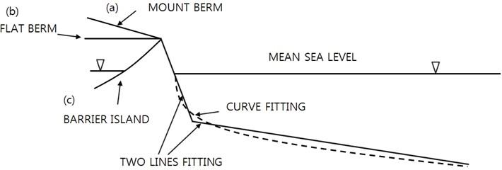 Berm types over beaches