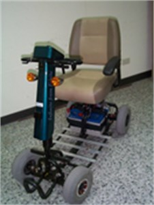 The real model of electric scooter