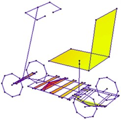 4th mode of scooter's main  structure (273Hz)