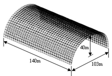 The double-layer cylindrical latticed shell