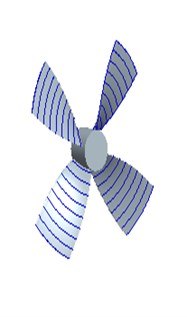 Model and projection principle of the propeller