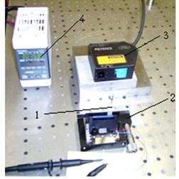 Experimental investigation: a) setup and b) structural scheme of experimental setup