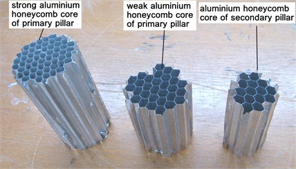 Processed aluminum honeycomb material for lander prototype