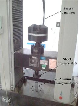 Aluminum honeycomb quasi-static crushing test