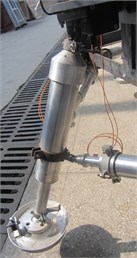Pull-wire displacement sensor  on primary pillar