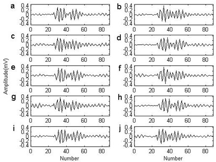The basis of the non-parametric atom  from the outer race fault signal