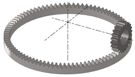 Meshing model of the gear pair