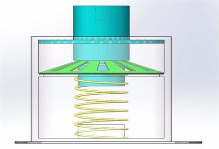 Prototype model of the proposed QZS isolator