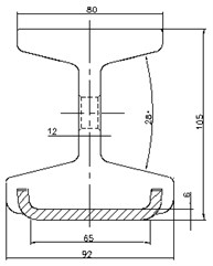 Section of conductor rail
