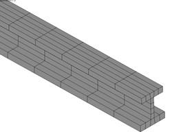 FEM model of conductor rail