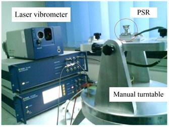 Vibration mode measurement of actual PSR