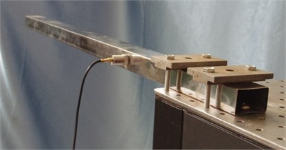 Experimental setup of the impact testing
