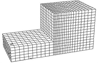 3D mesh model of reinforced structure