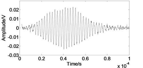 The experimental Lamb wave signal