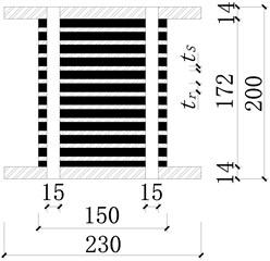 Dimension of PRB specimens