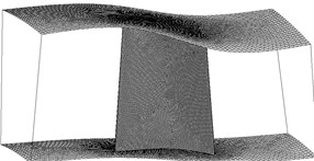 Fluid mesh of blade