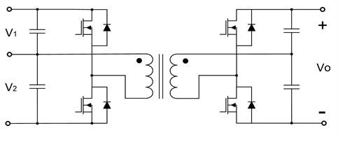 Reduced part, triple-half-bridge bidirectional DC-DC converter