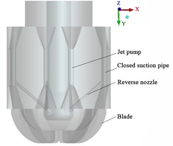 The BHDP of the combination bit with Ø12mm closed suction pipes