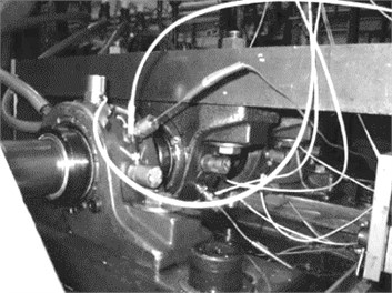 Bearing test rig sensor placement illustration