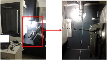 The modal test in 5-axis turn-milling center