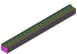 Single wheel load effect represented in the 3D FEM model