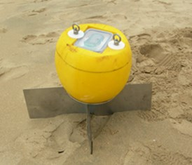GPS-equipped drogue manufactured for present survey