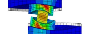 Sliding mechanisms of MSFI bearing with different coefficient of friction