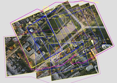 Geometric model of village Kazbiejai object and city Taurage