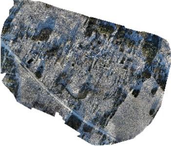 Ortho-mosaic of village Melagenai project