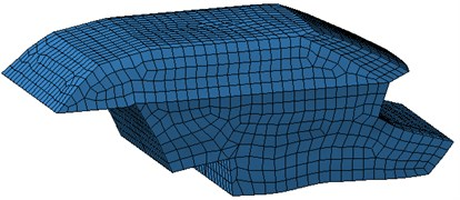 The grid model of sound field in car