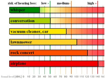 The influence of sound level on the risk of losing hearing by human
