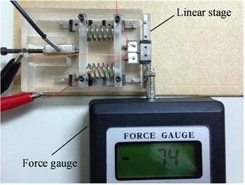 Thrust measurement experiments