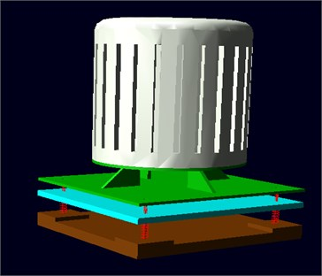 The Adams virtual prototype model of the vibration isolation system
