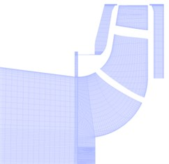 Grid of the fluid domain
