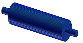 Acoustical finite element mesh model  of muffler
