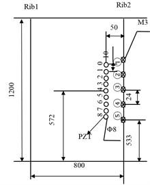 Arrangement of the PZT array