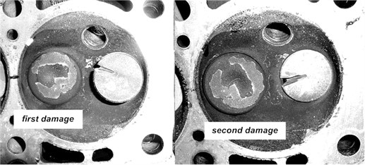 Subsequent phases of the mechanical defect of the valve