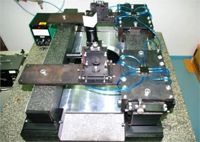 General view of carriage of angle measurement comparator