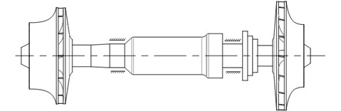 Rotor structure of turbo expander