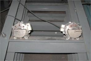 Harmonic vibration synchronization transient process detection photos  of dual excitation rotors by strobe tachometer