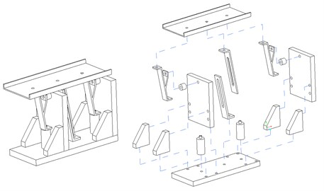 Assembly drawing with exploded view