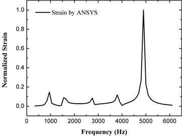 Strain response by harmonic analysis calculation