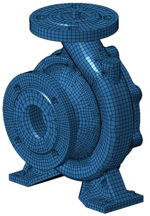 Acoustic mesh of the volute
