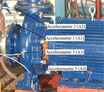 Location of the accelerometers